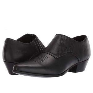 Durango Low Black Western Cowboy Boots Booties 8.5